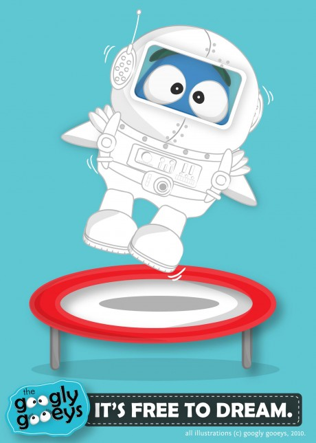 Googly Gooeys It's Free to Dream (Astronaut on a Trampoline)