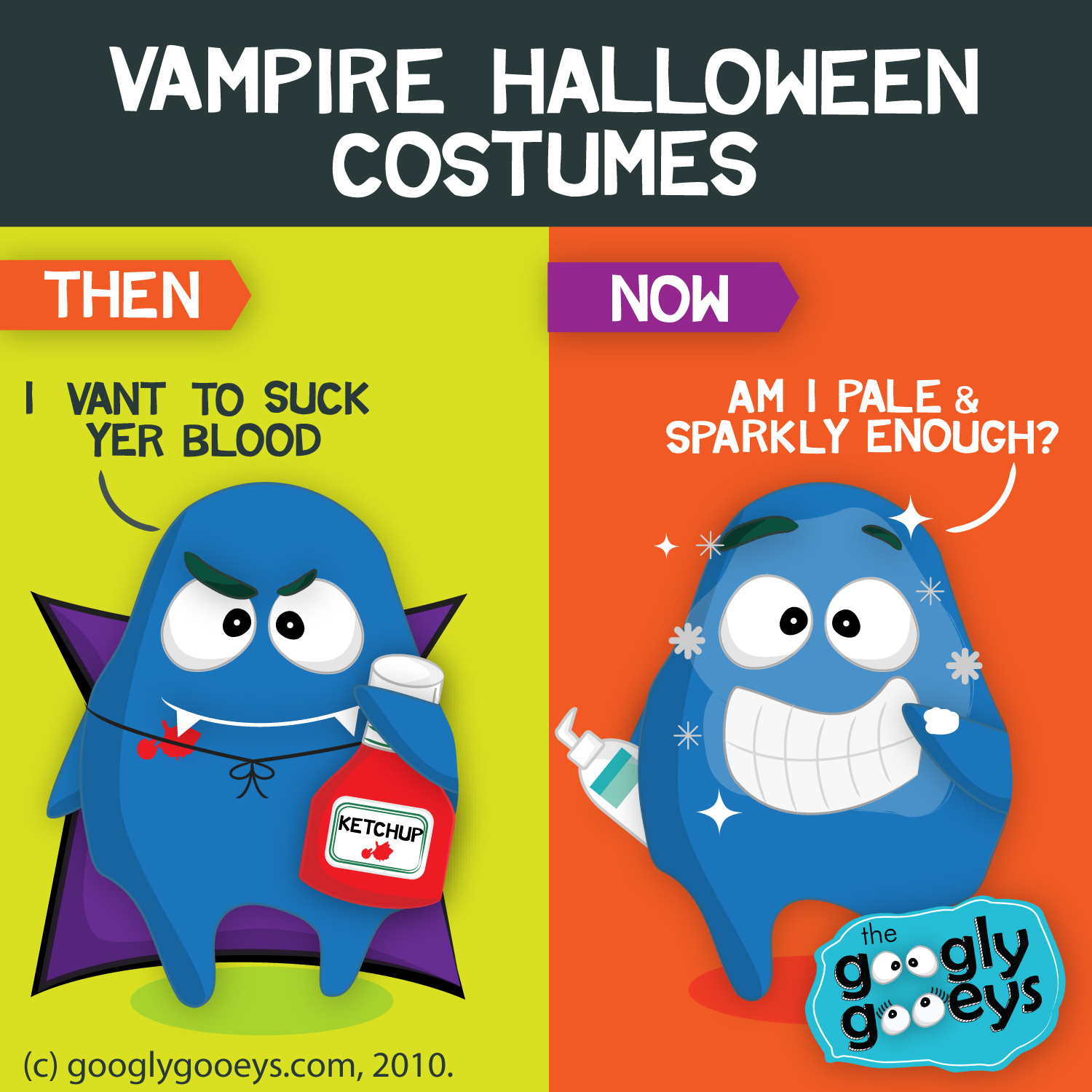 Vampire Costumes for Halloween: Then & Now