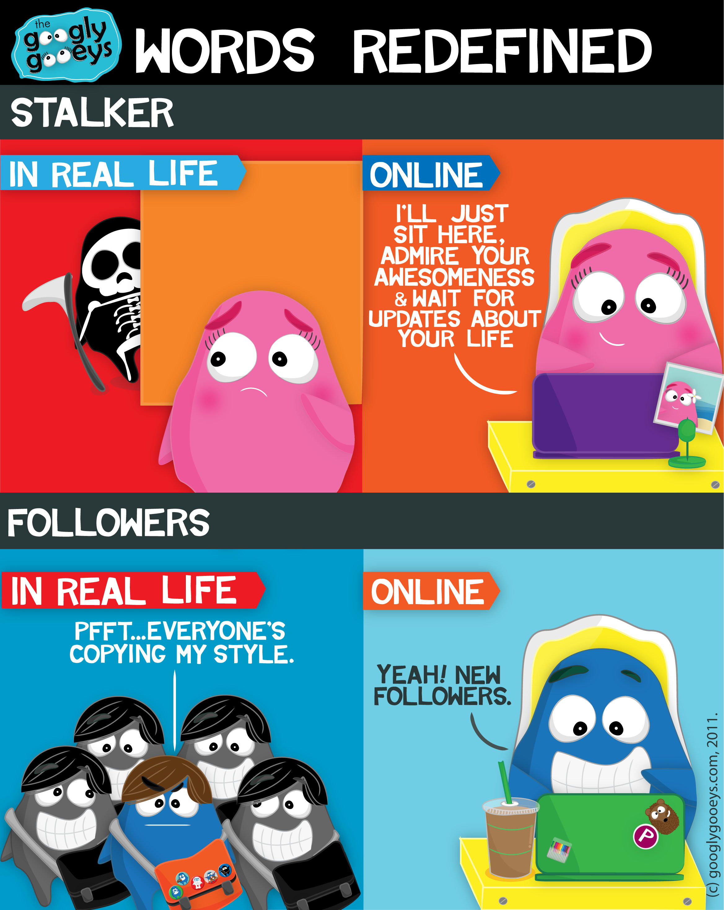 Online Stalkers + Followers: Words Redefined