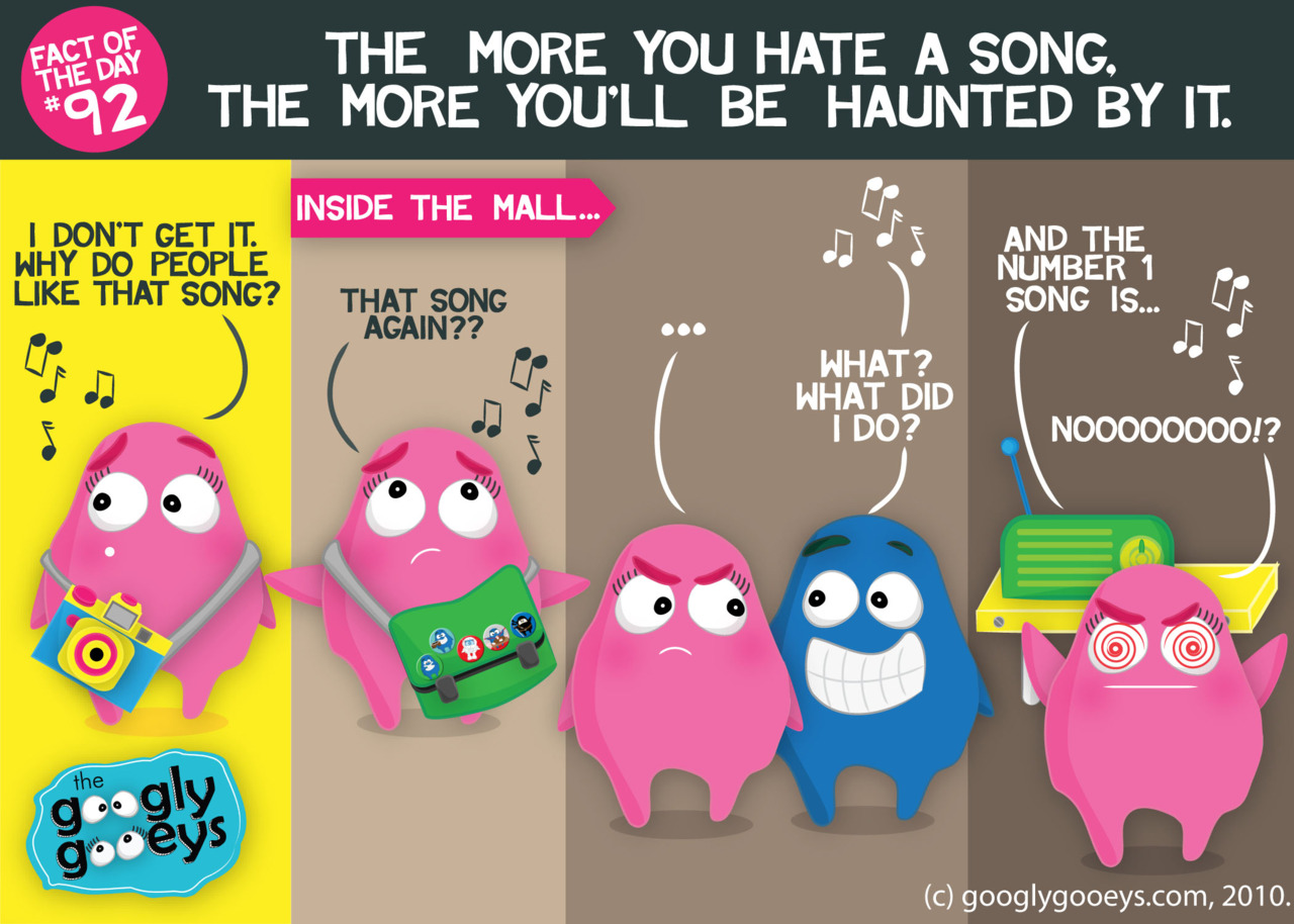 Fact of the Day #92: The more you hate a song, the more you'll be haunted by it.