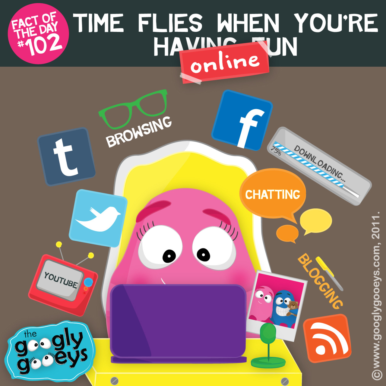 Fact of the Day #102: Time flies when you're online.