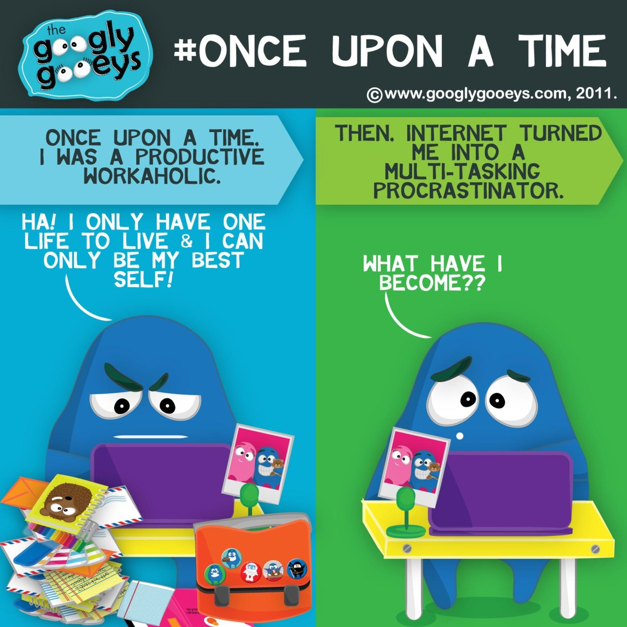 #onceuponatime I was a productive workaholic. Then, the internet turned me into a multi-tasking proc