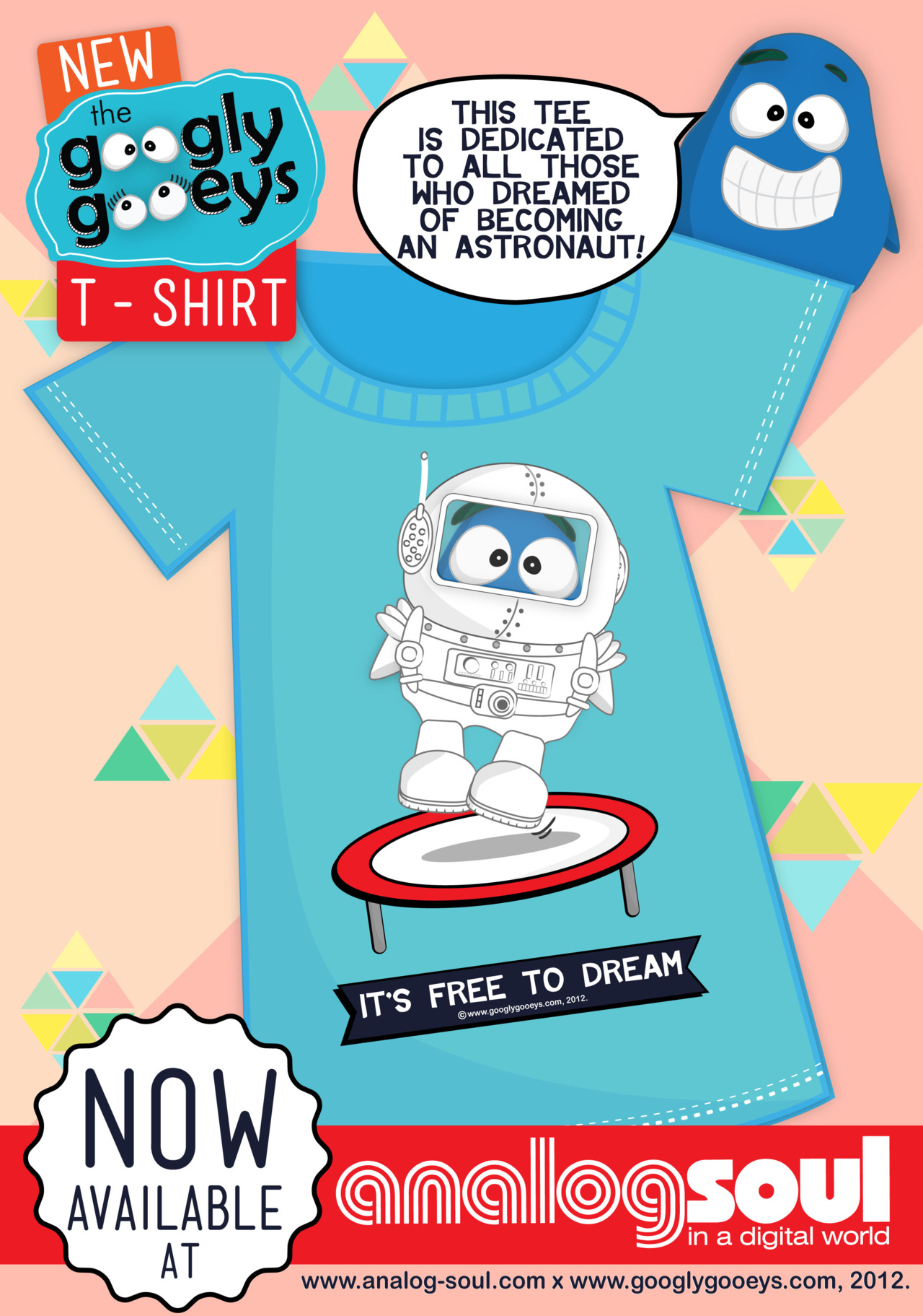 This tee is dedicated to all of you who dreamed of becoming an astronaut. Well, whether you'reon your way to working for NASA someday or simply jumping on a trampoline and enjoying your tiny moments mid-air, this shirt is for ya!