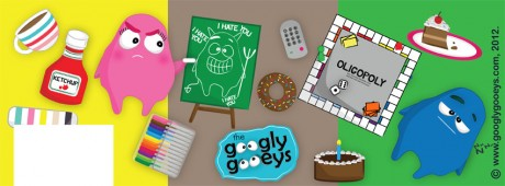 Googly Gooeys Facebook Timeline Cover(2) Random & Sleepy