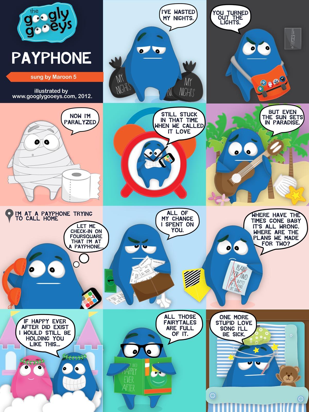 Payphone Lyrics by Maroon 5 – Illustrated ;)