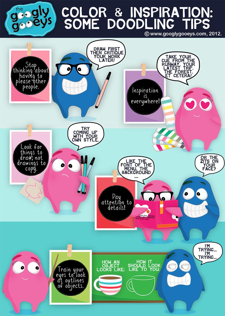 Color & Inspiration: Some Doodling Tips