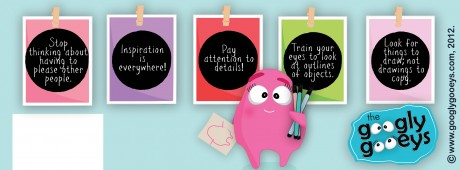 Googly Gooeys Facebook Timeline Cover(7) Color & Inspiration: Some Doodling Tips
