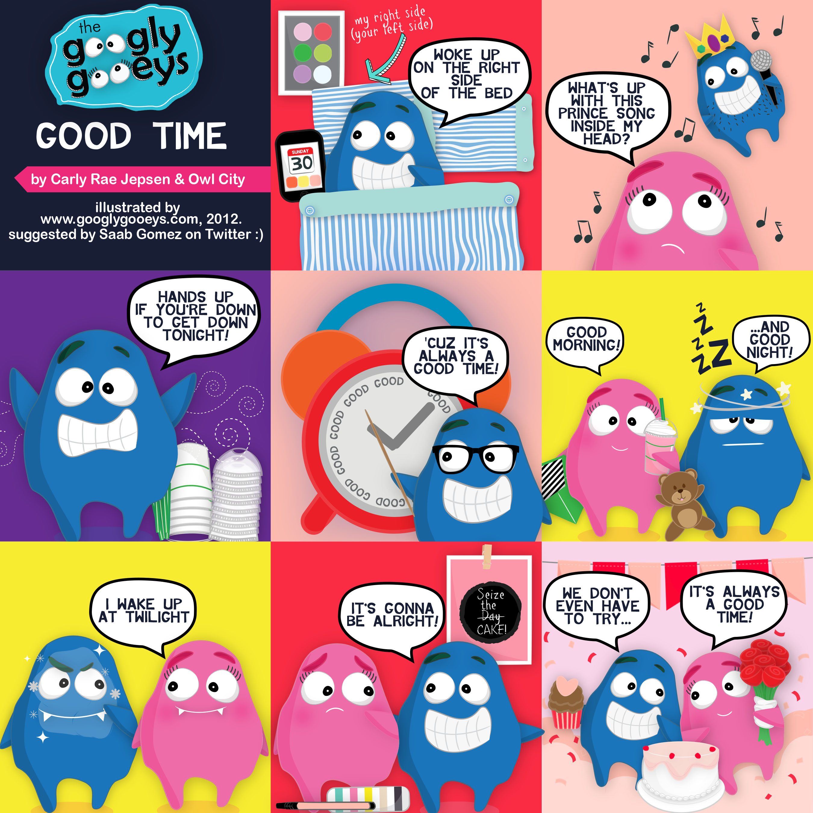 Good Time Lyrics Illustrated (Sung by Owl City & Carly Rae Jepsen)