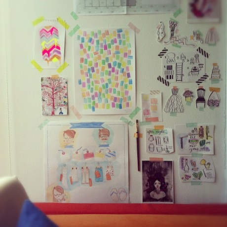 Wall Abuse: doodles, inspiration, projects on the wall