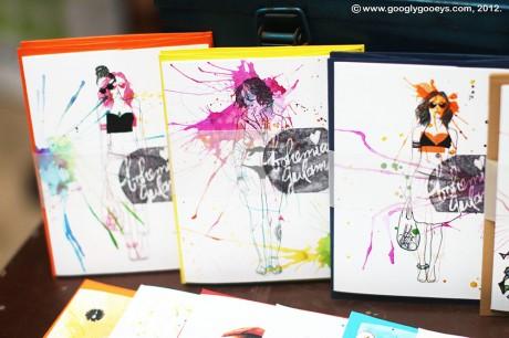Watercolor Fashion Cards by Bohemian Gulaman