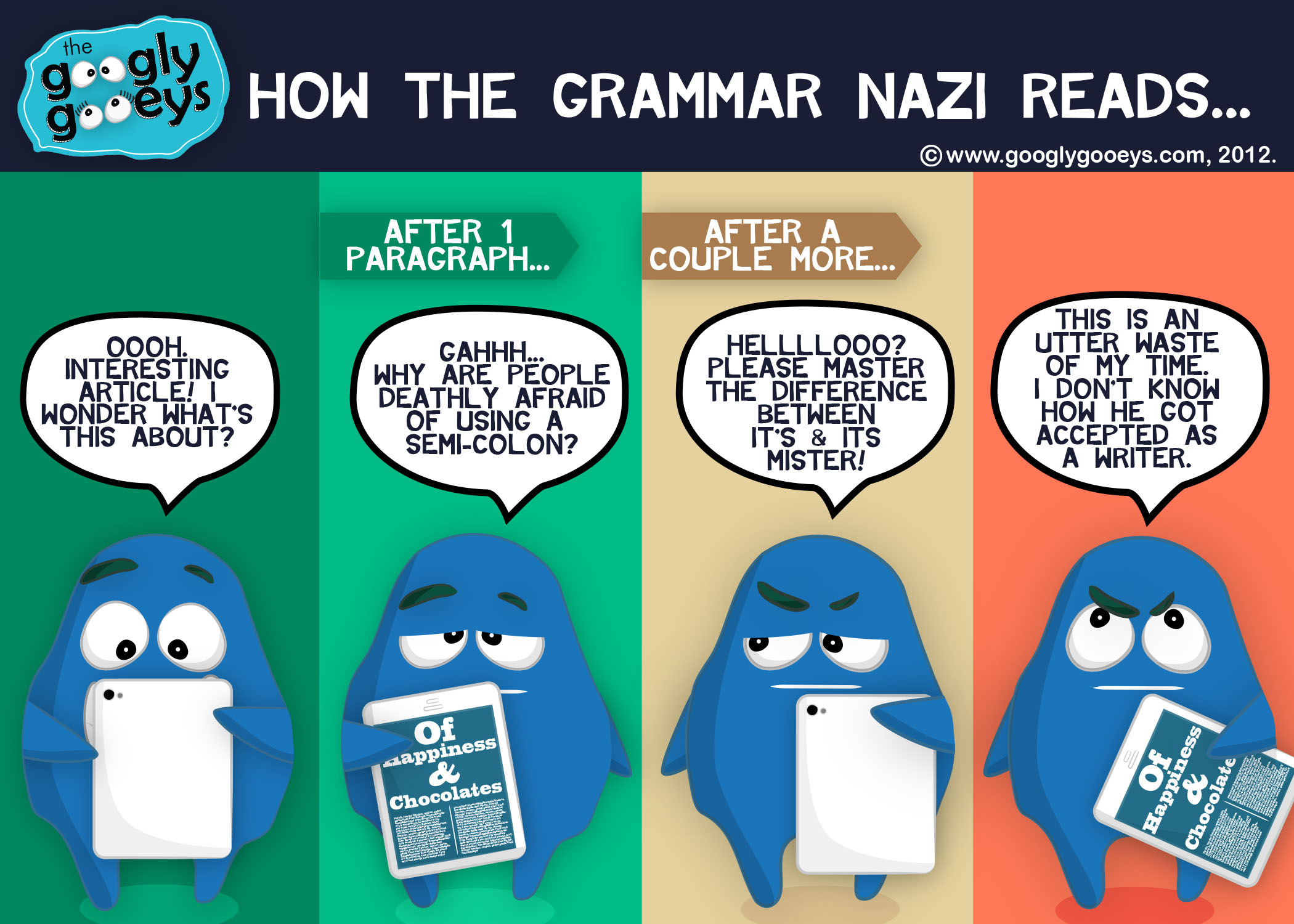 The Grammar Nazi: How He Reads