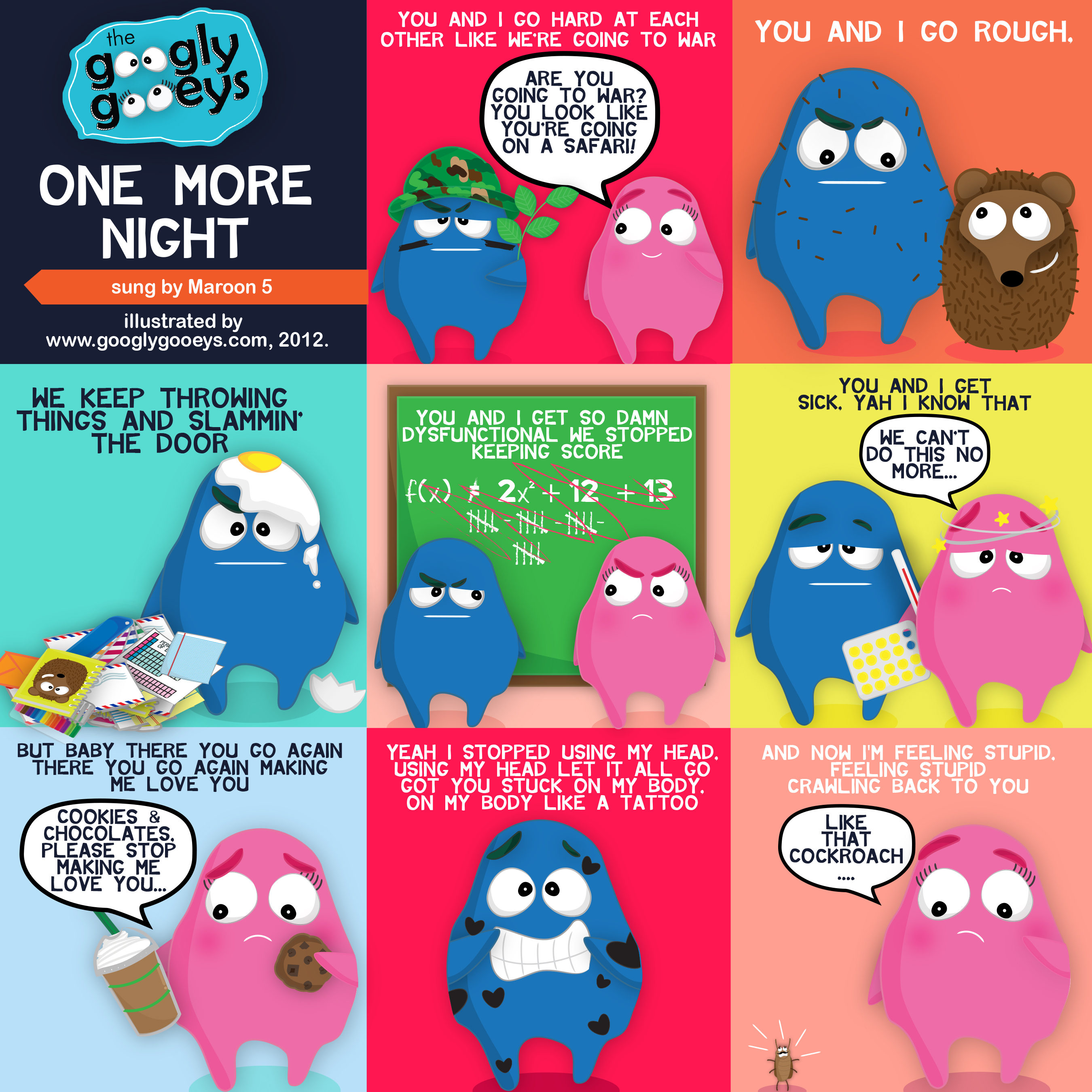 One More Night Lyrics Illustrated (Sung by Maroon 5)