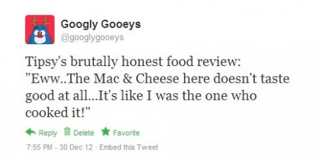 Googly Gooeys You Know You're a Bad Cook When (Twitter status)