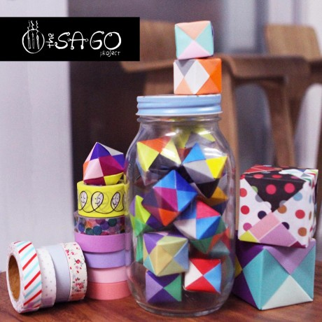 Paper Cubes (with Sago Project Watermark)