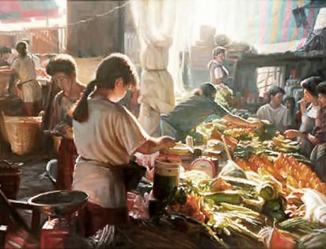 Vegetable Vendor by Edgardo Lantin