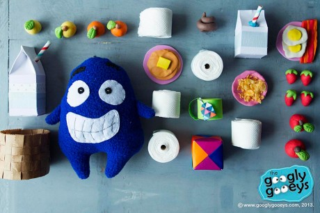 Googly Gooeys Props Organized Neatly