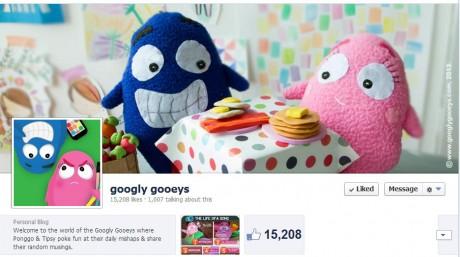 Googly Gooeys on Facebook 15,000 likes