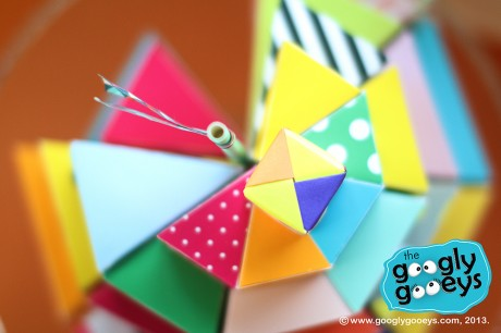 Googly Gooeys Colorful Paper Cake