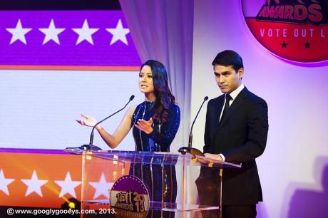 Tatt Awards 2013 Hosts Bianca Gonzales & Atom Araullo (with watermark)
