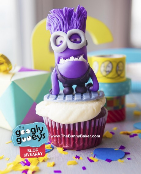 Evil Minion Cupcake by the Bunny Baker
