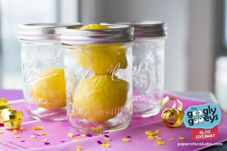 Paper Chic Studio Mason Jars with lemons