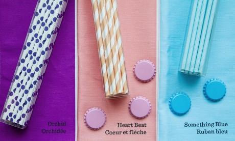 Paper Chic Studio Straws & Sitting Pretty Bottlecap Magnets