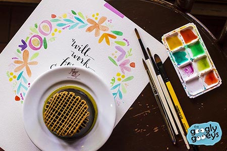 Chocolate Decadent Cake at Figaro with Watercolor for Globe Rewards