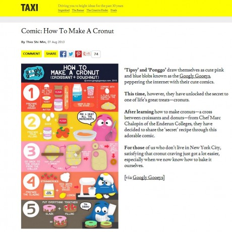 Cronuts Recipe Design Taxi Feature of the Googly Gooeys