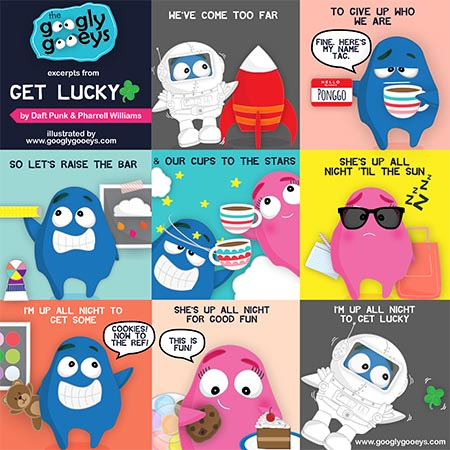 Get Lucky by Pharrell & Daft Punk Illustrated ;)