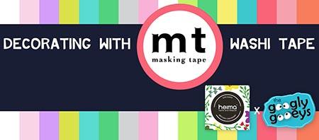 Heima MT Washi Tape Workshop Googly Gooeys Trion Towers