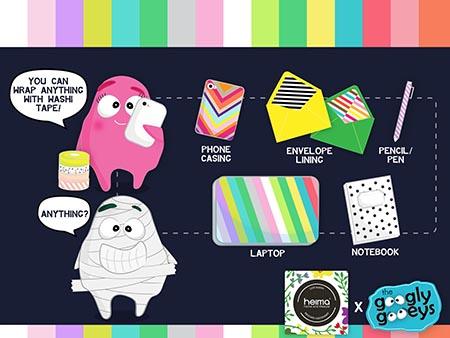 Uses of MT Washi Tape (Heima x Googly Gooeys)