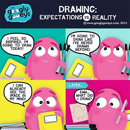 Drawing: Expectations Versus Reality + Some INK Portraits