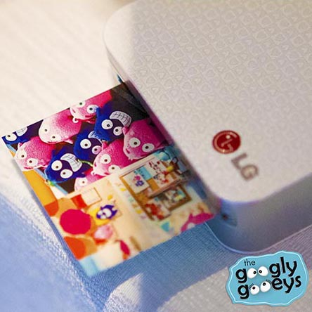 LG Pocket Printer with Googly Gooeys Print Out