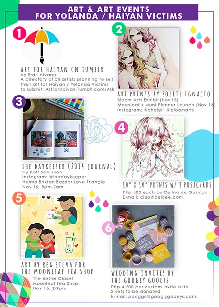 Help Haiyan Yolanda Typhoon Victims Through Art