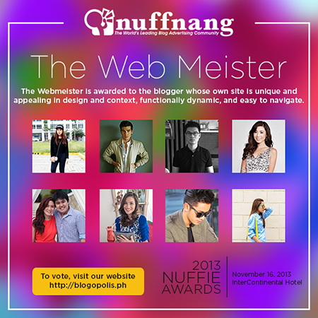 Nuffie Awards Web Meister Category