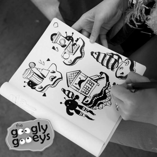 Black & White HK Doodle