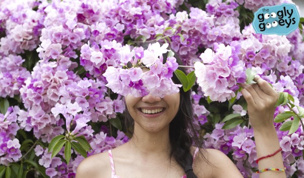 Mansy Abesamis with Flowers