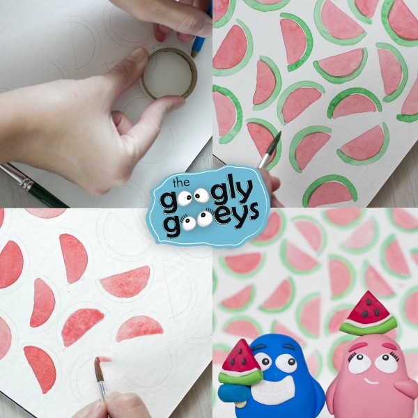 Watermelon Watercolor DIY
