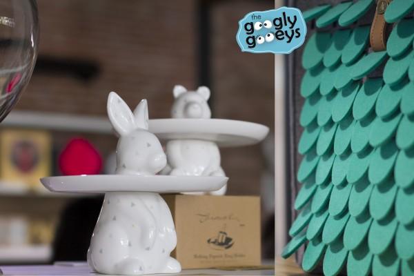 Co Op Manila Bunny Cake Stand & Seafoam Felt