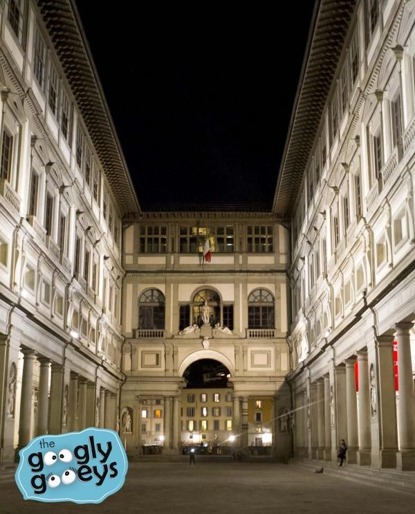 Uffizi Gallery at Night Florence