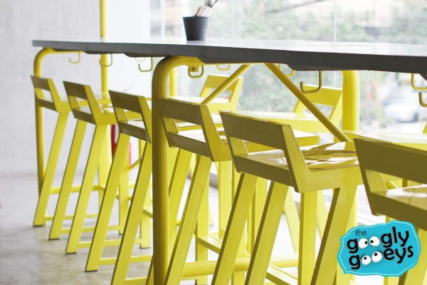 Scarsdale Canary Yellow Bar Stools