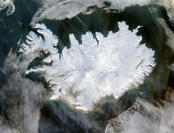 Iceland from Outerspace