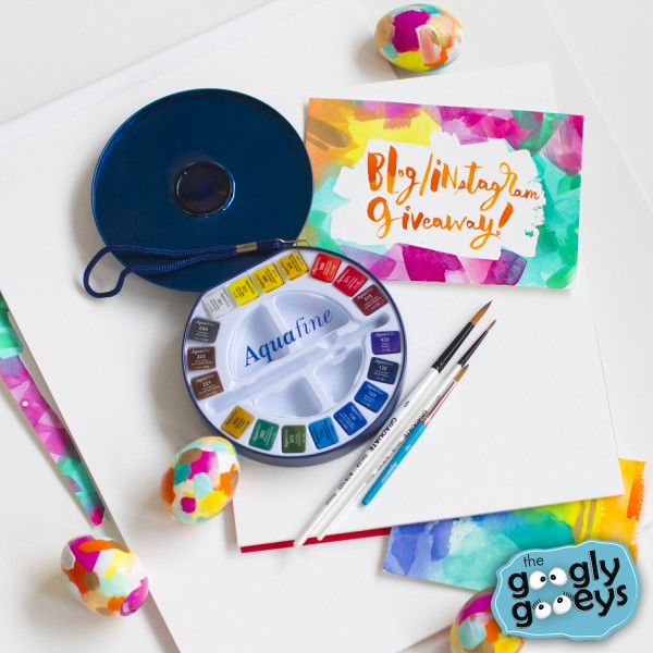 Watercolor Giveaway for Easter (Googly Gooeys & Fully Booked)