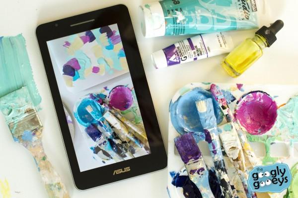 Asus Fonepad 7 Acrylic Paint