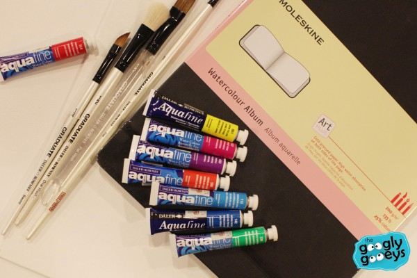 Watercolor Supplies Fully Booked