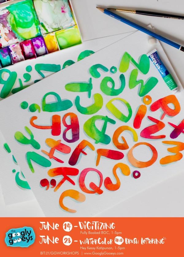 Watercolor Alphabet Poster