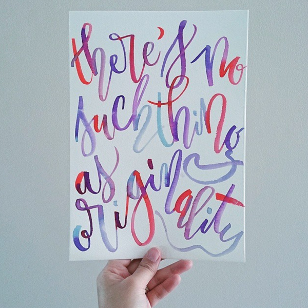 Originality Typography by Katrina Etong