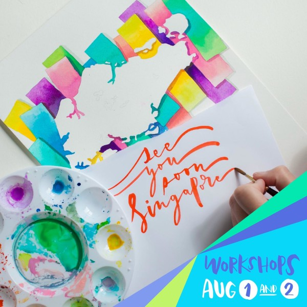 Singapore Lettering Watercolor Workshops