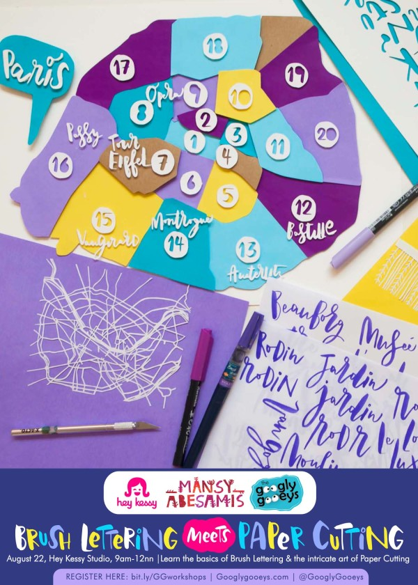 Brush Lettering Meets Paper Cutting Workshop