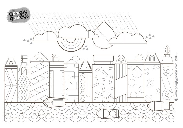 Free Adult Coloring Page Amsterdam